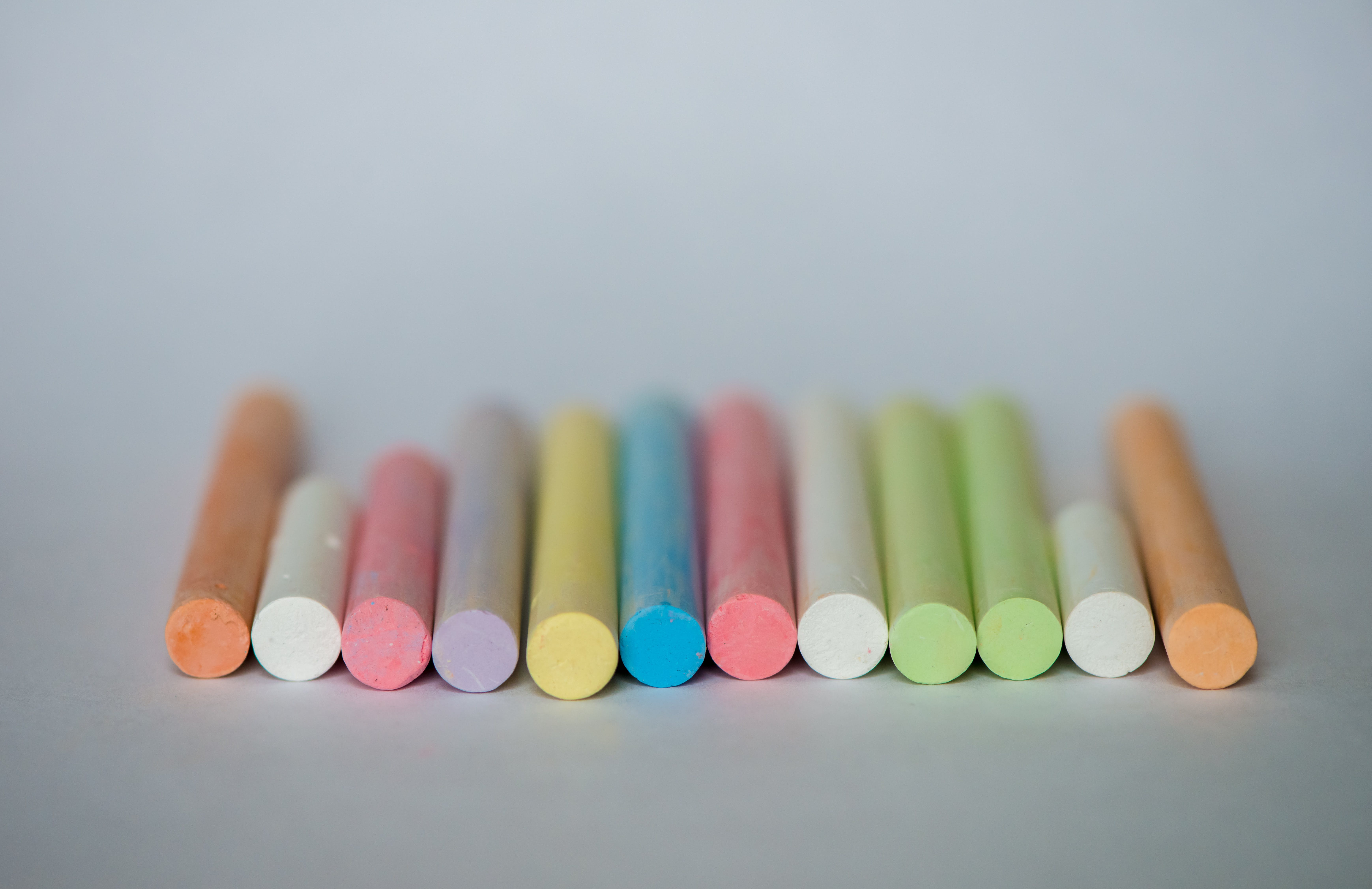 Assorted-color of Chalks in Closeup Photography
