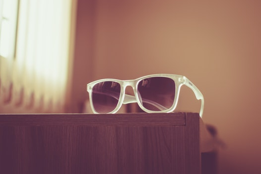 Free stock photo of wood, fashion, sunglasses, table