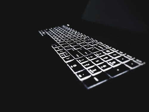 Free stock photo of backlit, keyboard, laptop keyboard