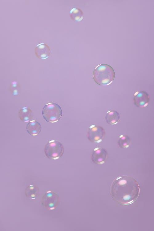 Bubbles on Purple Background