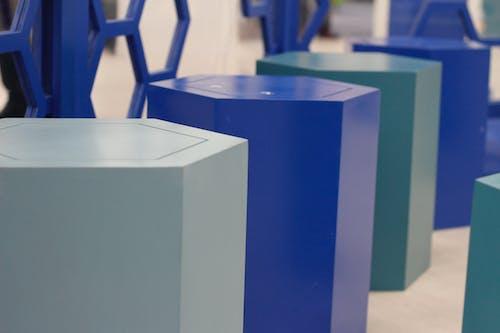 人物, 幾何, 藍色 的 免费素材照片