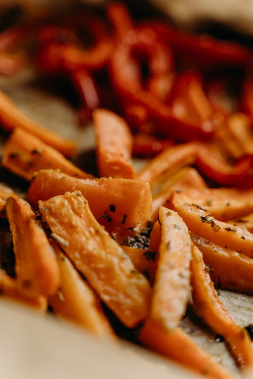 Baked Carrots and Bell Peppers