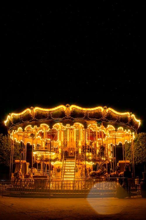 Free stock photo of amusement ride, bokeh, carousel