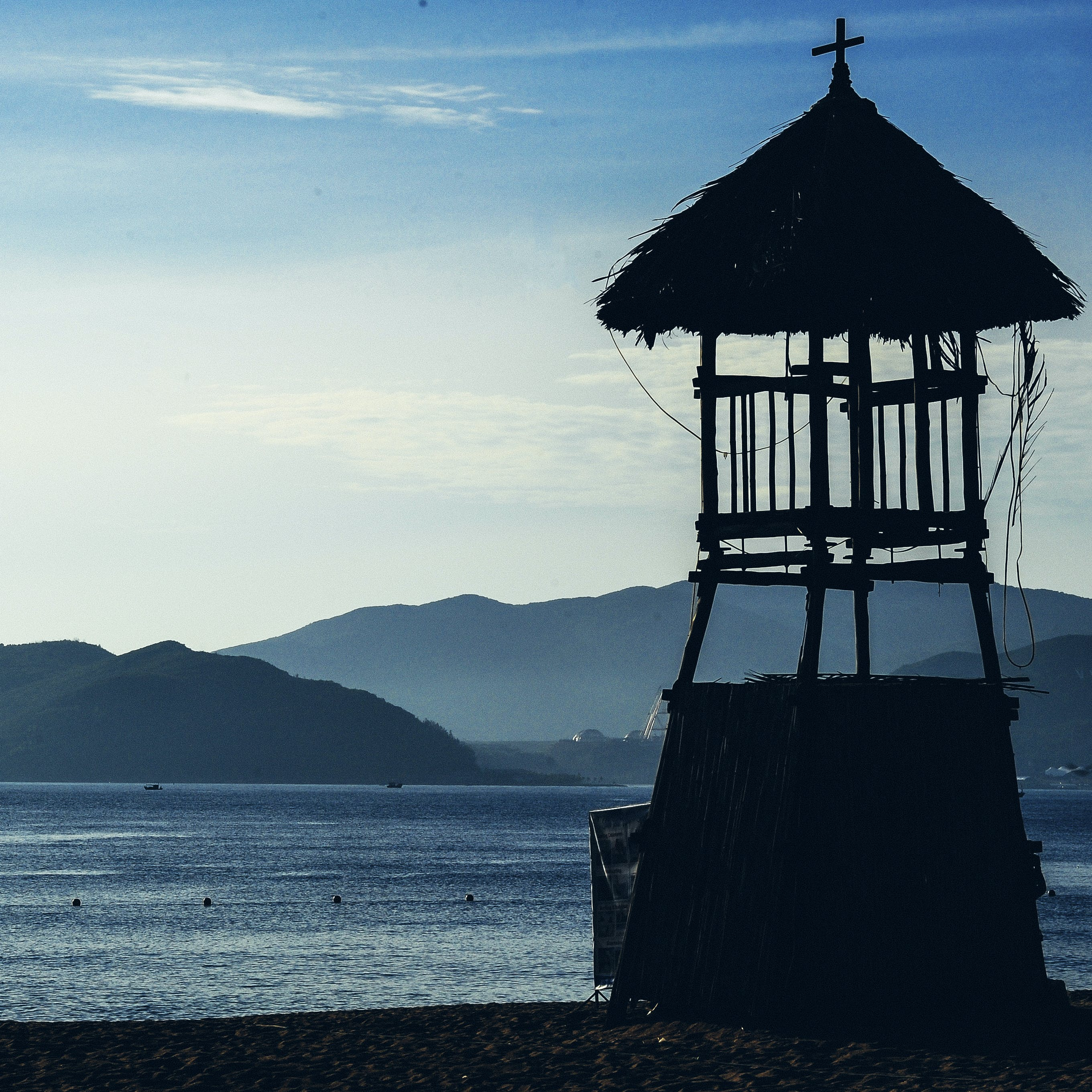 Silhouette Photo of Wooden Guard House