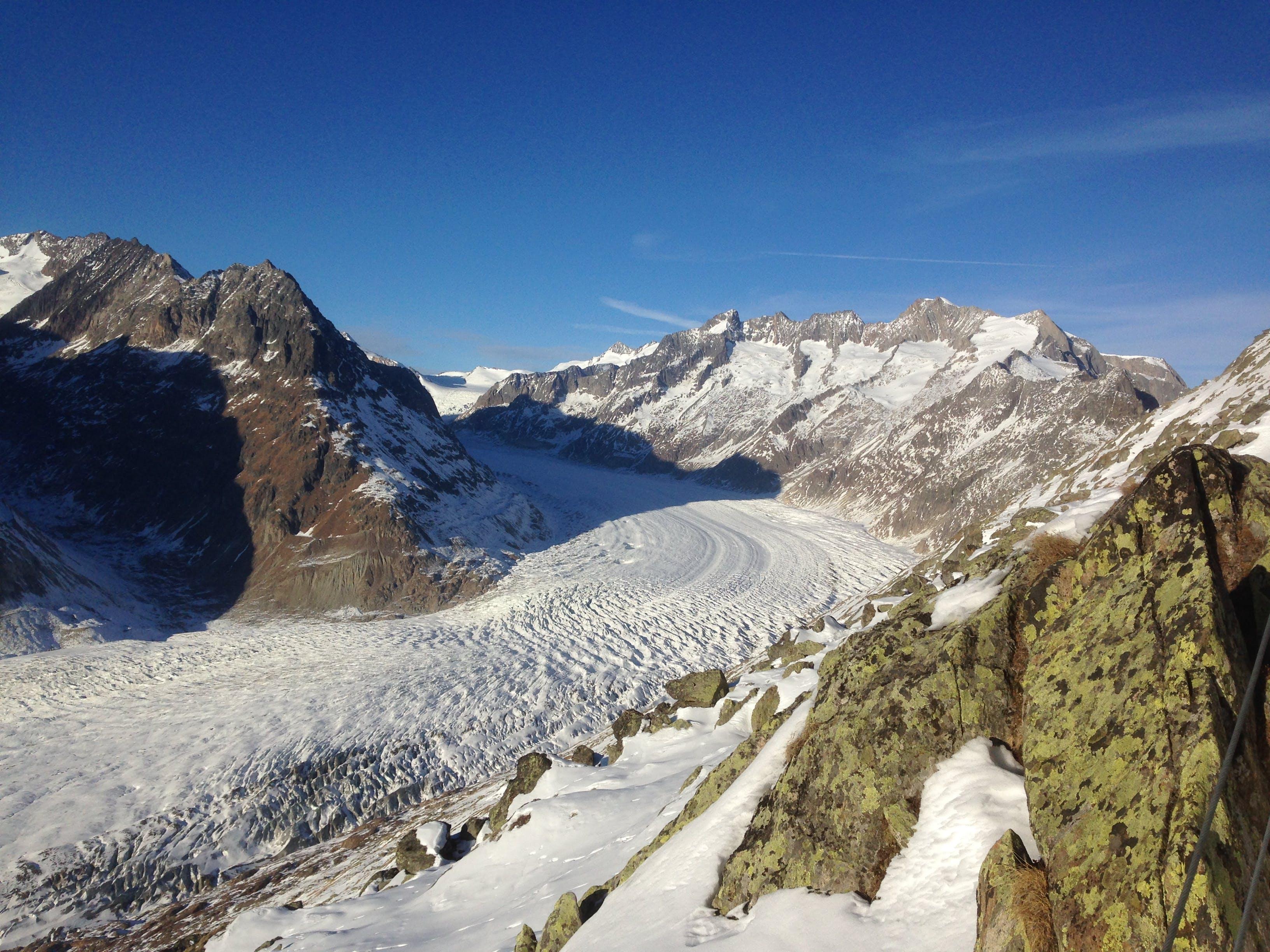 Δωρεάν στοκ φωτογραφιών με aletschgletscher, berge, blauer himmel, gletscher