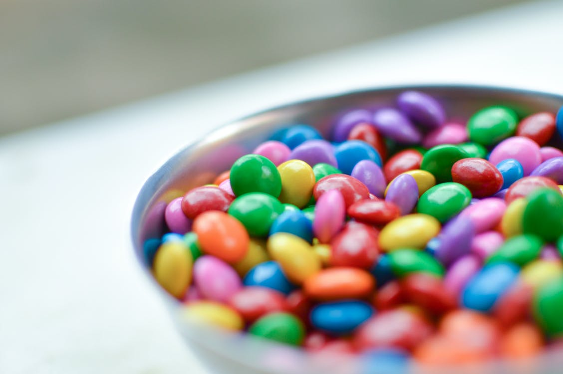 M&M's Chocolates in Bowl