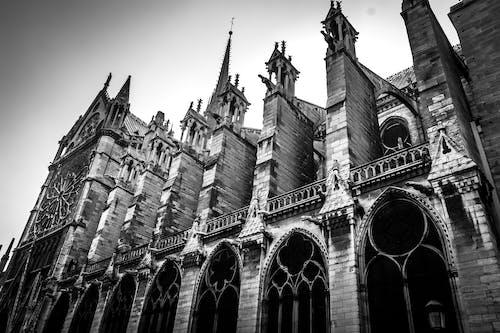 cephe, Fransa, Gotik, kilise içeren Ücretsiz stok fotoğraf