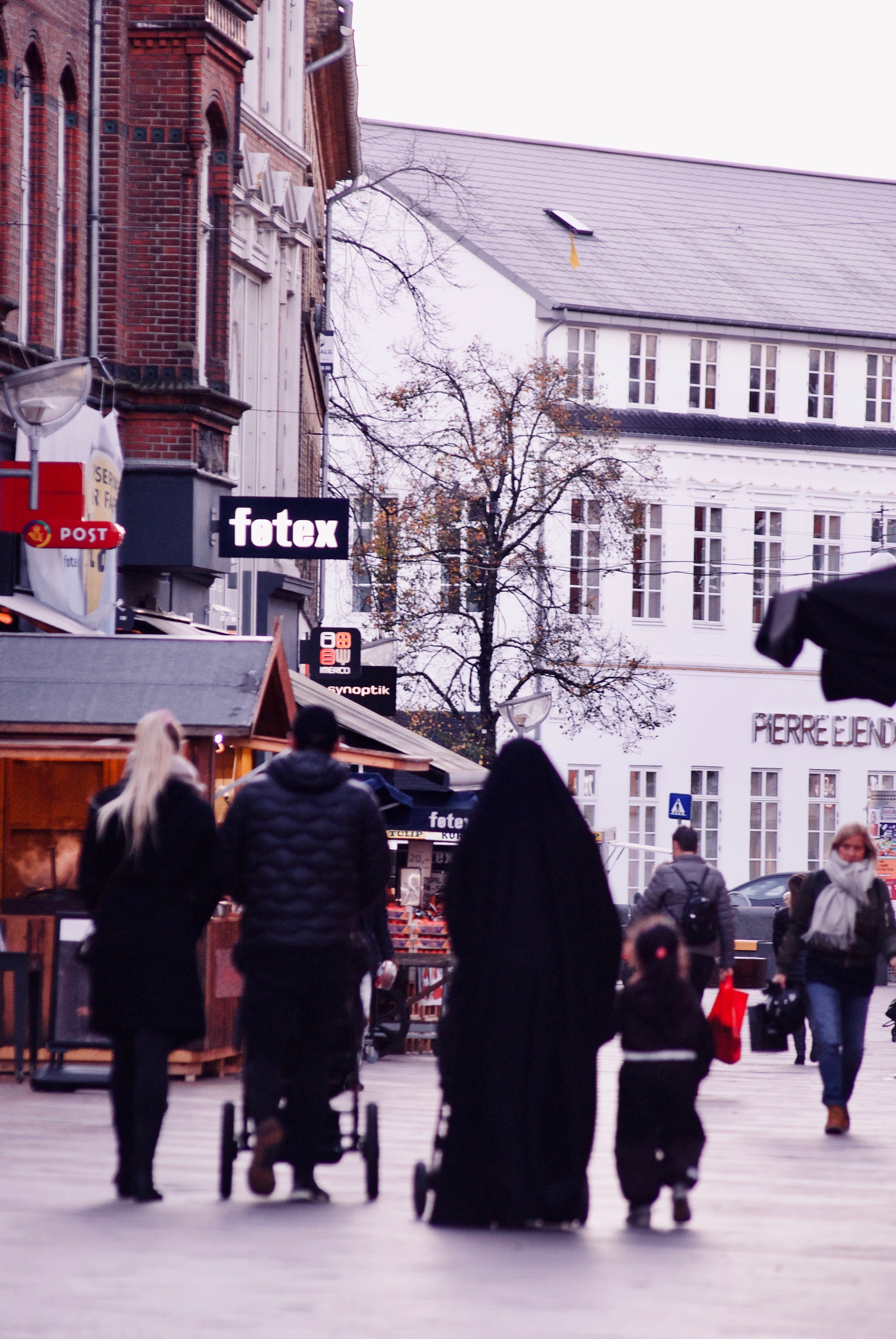 Free stock photo of blond, burka, city, cold
