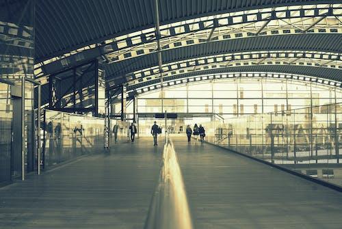 Gratis lagerfoto af folk, rejse, sort-hvid, station