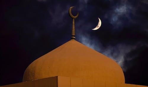 Gratis lagerfoto af islam, mellemøsten kultur, moske, nat skudt