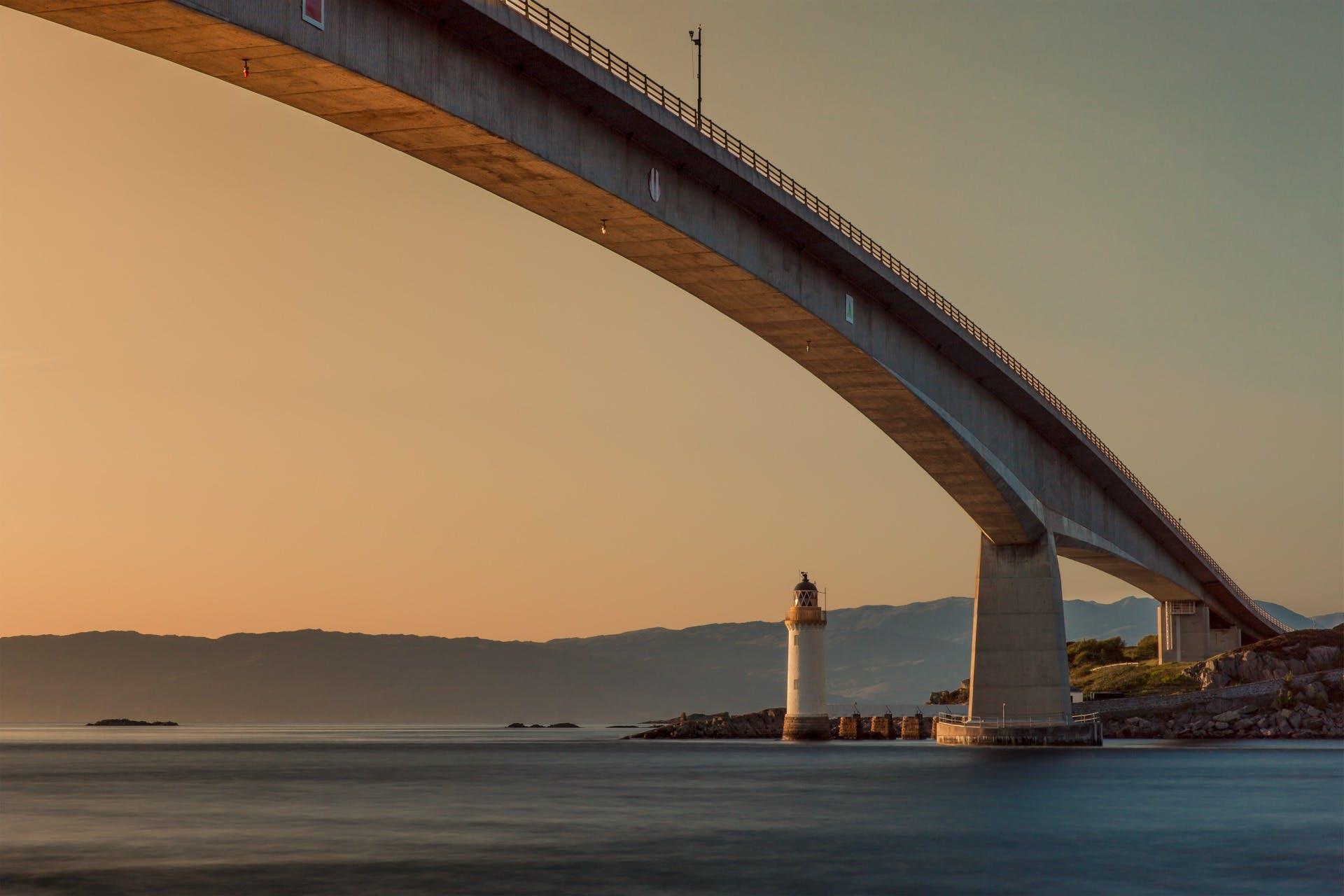 Free stock photo of sea, water, ocean, bridge