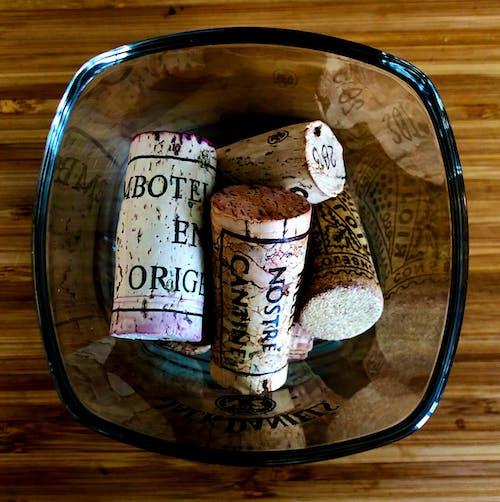 Základová fotografie zdarma na téma detailní záběr, sklenice, sklo, víno korku
