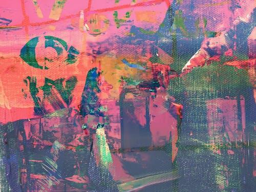Ingyenes stockfotó absztrakt, absztrakt festmény, akril, akrilfesték témában
