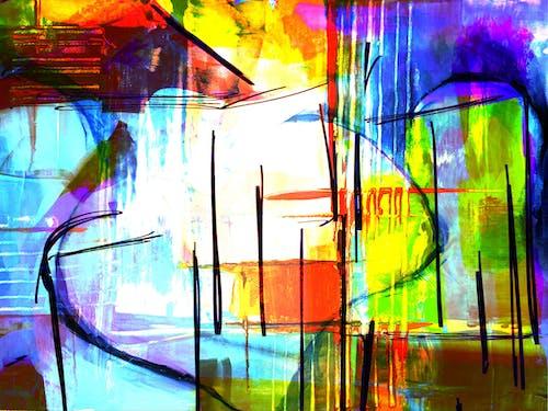 Ingyenes stockfotó ábra, absztrakt, absztrakt festmény, akrilfesték témában