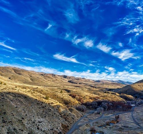 Landscape Scenery of Mountains under Blue Sky