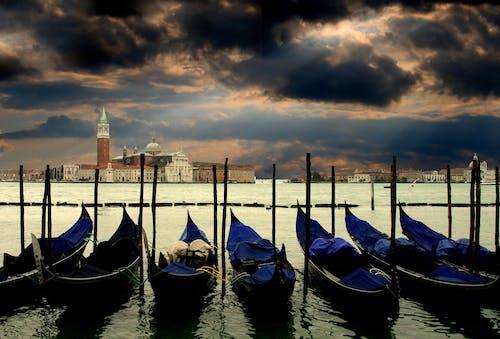 城市, 天空, 水, 義大利 的 免费素材照片