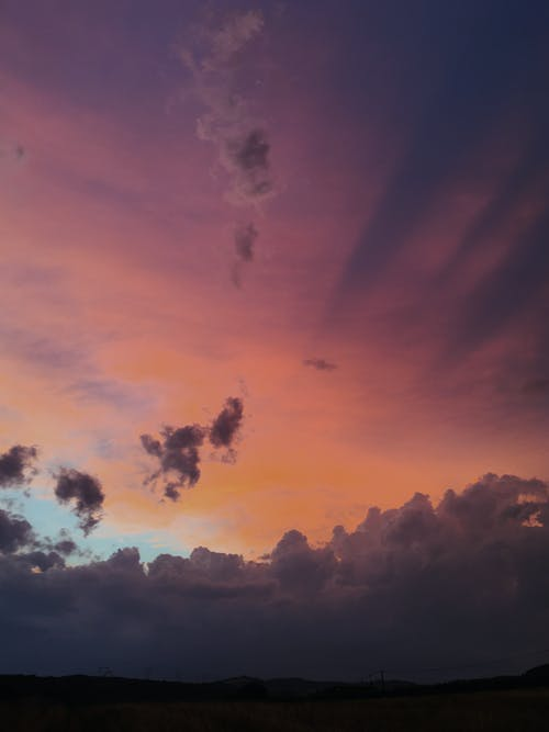 akşam karanlığı, altın saat, bulut görünümü içeren Ücretsiz stok fotoğraf