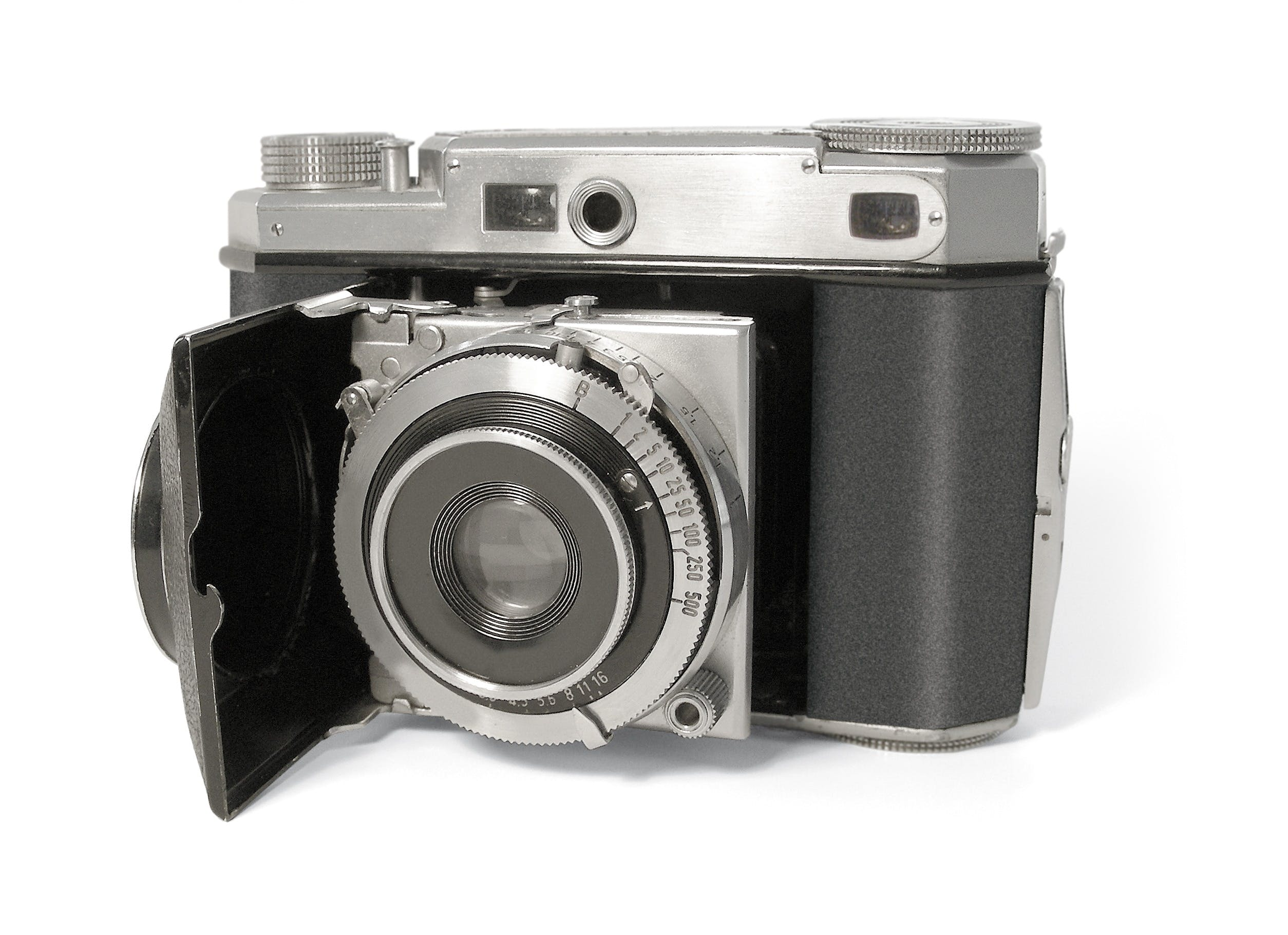 Black and Silver Mirrorless Camera