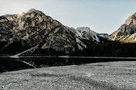 snow, landscape, mountains
