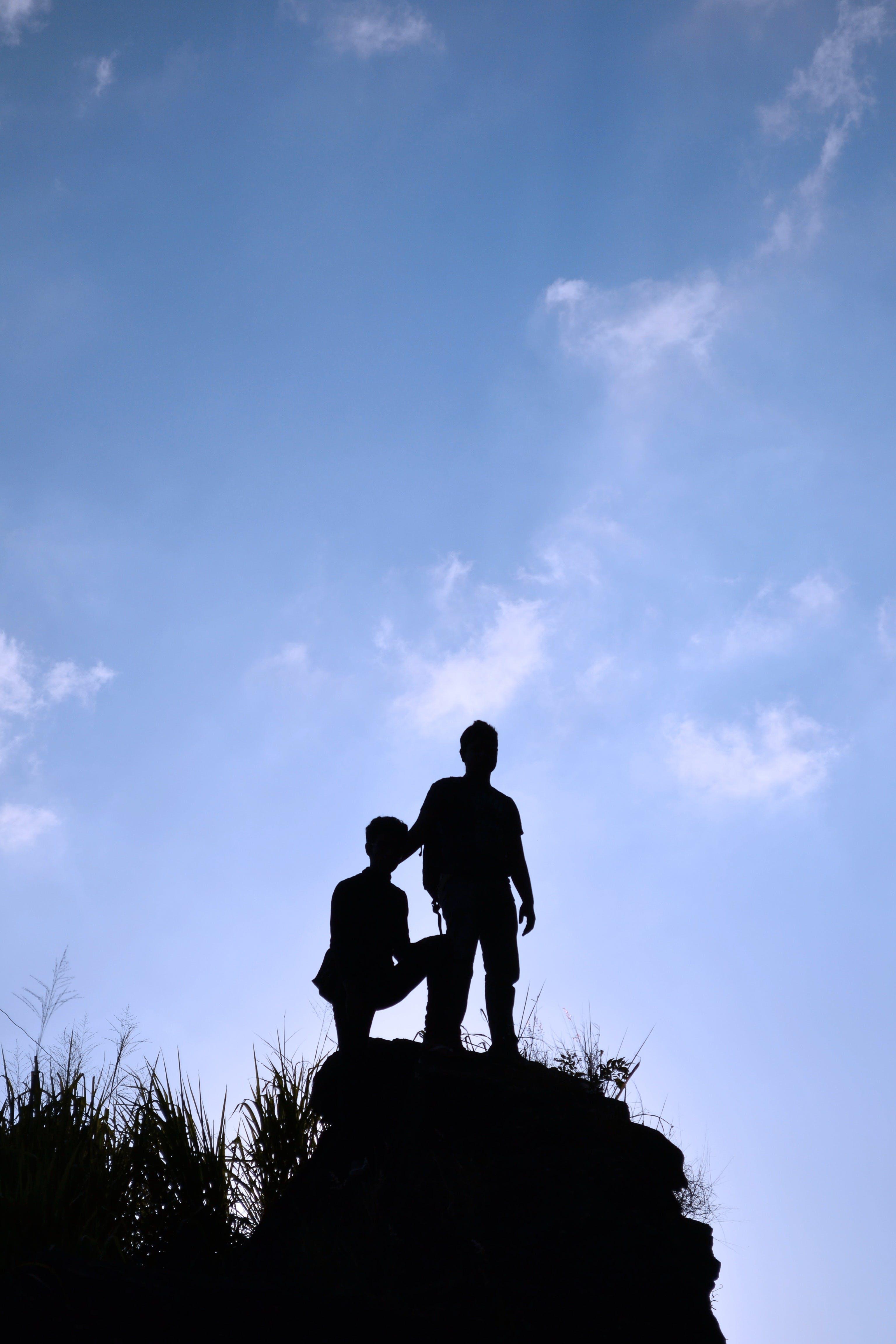 Free stock photo of sky, people, silhouette, blue sky