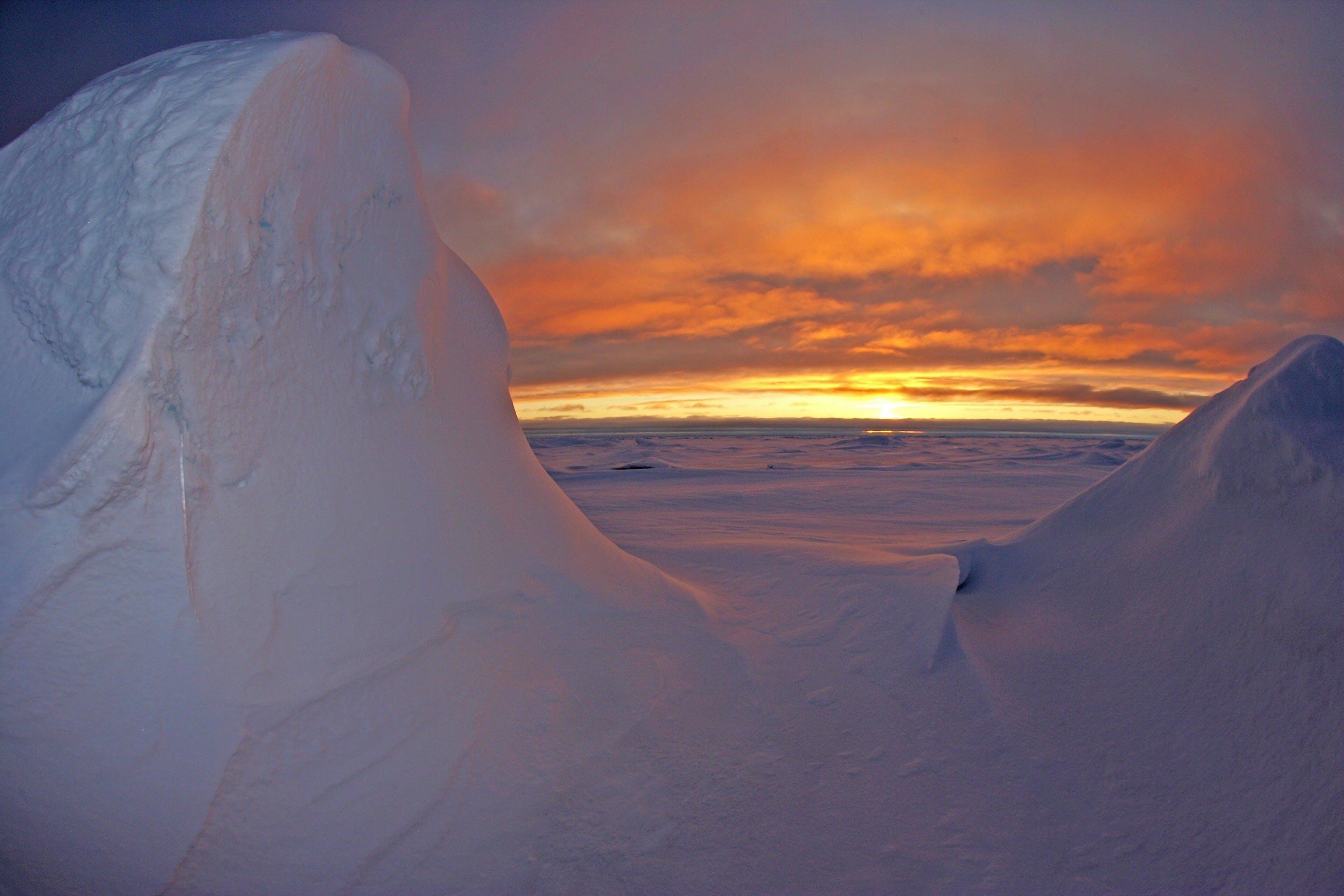 Kostenloses Stock Foto zu schnee, meer, landschaft, natur