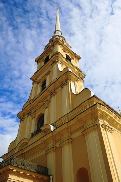 低角度拍攝, 大教堂, 天空