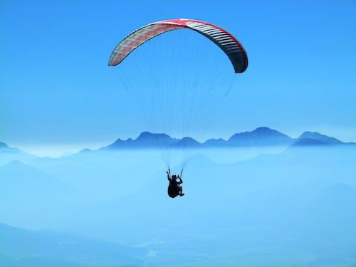 冒險, 山, 滑翔傘, 滑翔傘運動員 的 免费素材照片