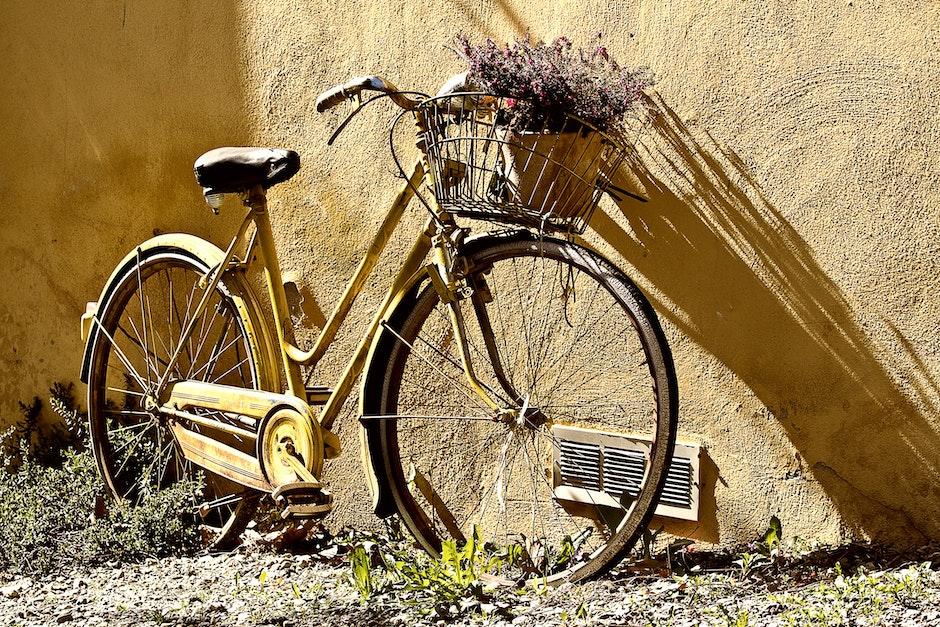 Yellow Mamachari Bike
