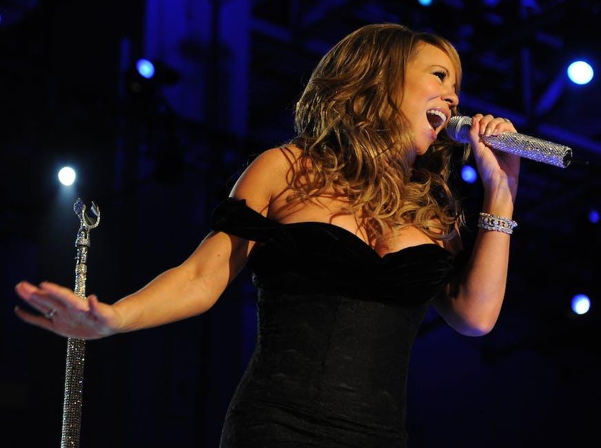 Mariah Carey Holding a Microphone