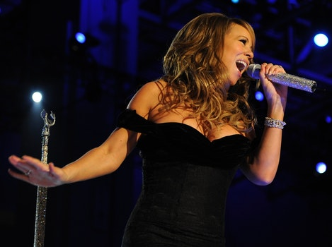 Mariah Carey Holding a Microphone