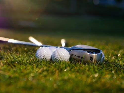White Golf Ball on Golf Club
