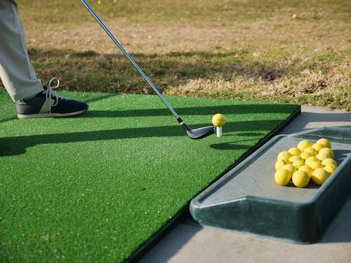 Green Mat on Golf Driving Range