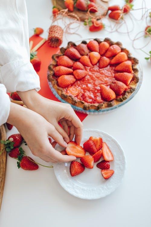 Imagine de stoc gratuită din căpșuni, delicios, desert
