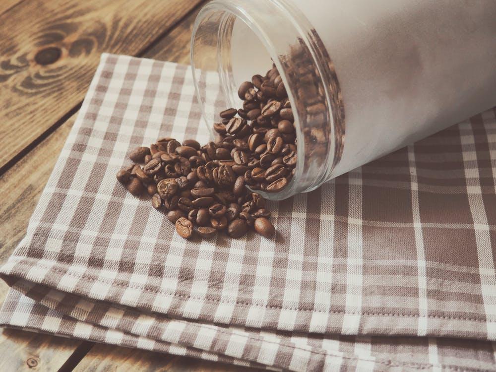 brun, grov, kaffe