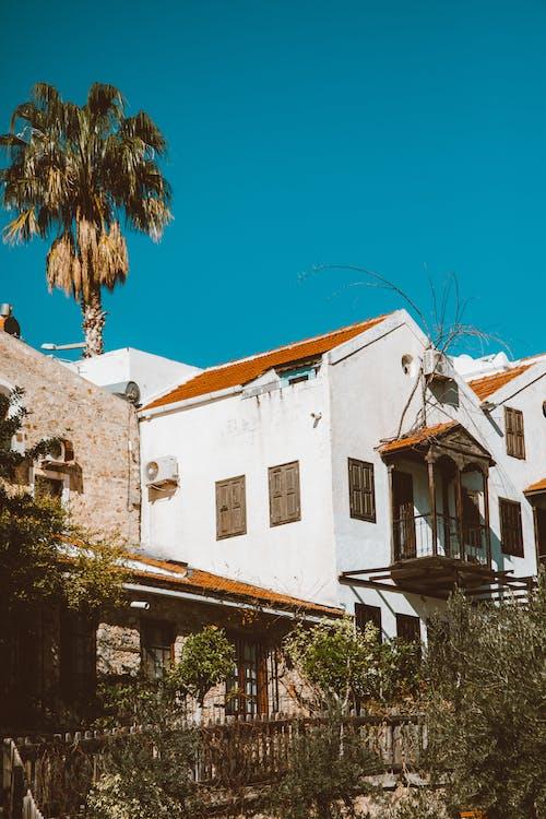 Kostnadsfri bild av blå himmel, Fasad, fönster