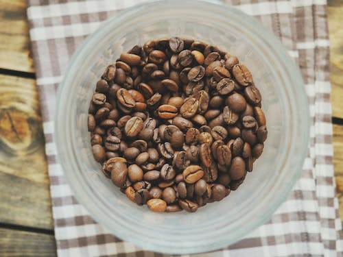 Coffee Beans on Plastic Cup