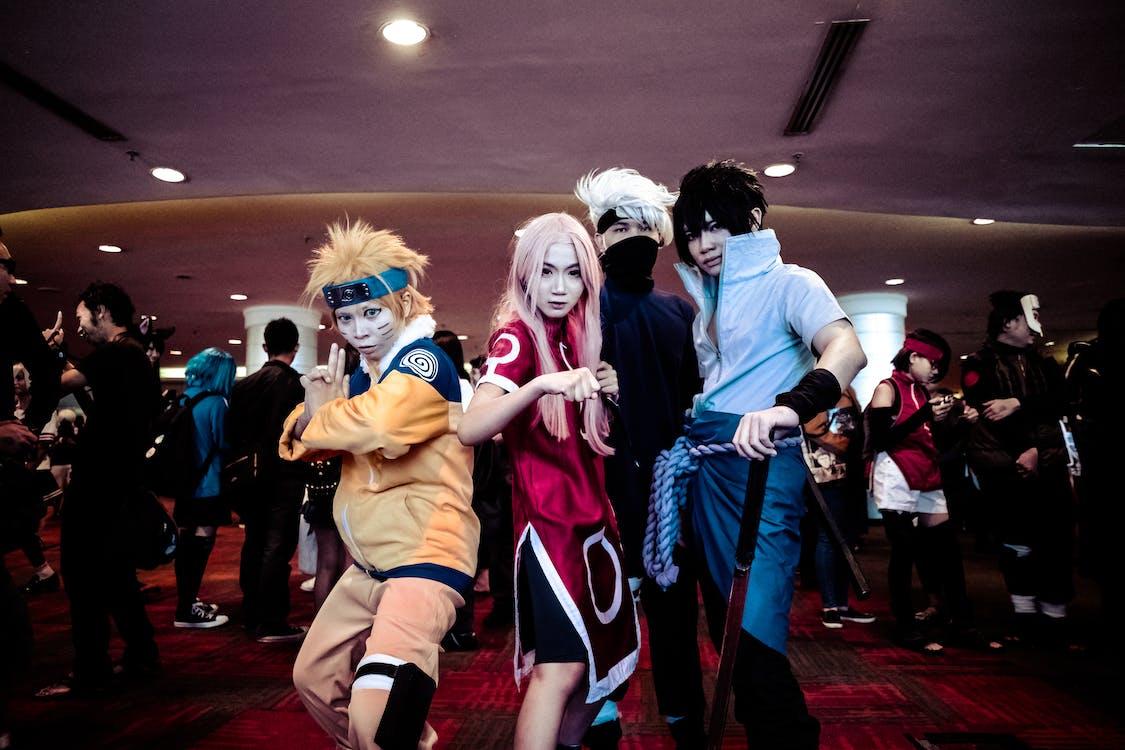 Four Person in Naruto Costume