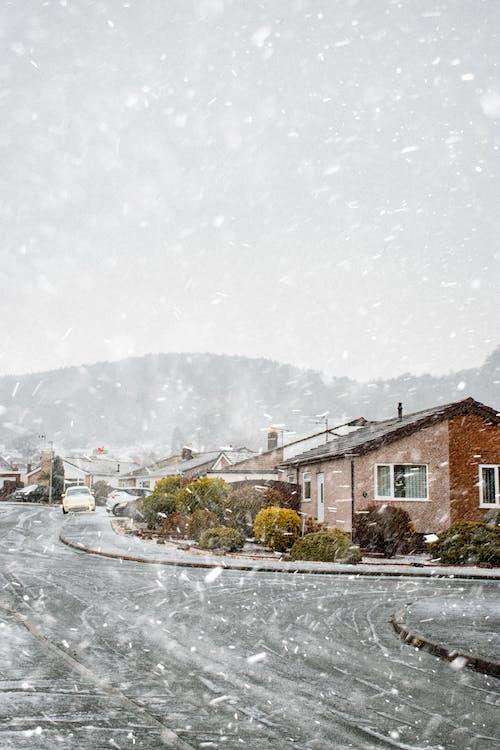 Empty Asphalt Road During Winter