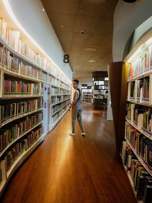 Kostnadsfri bild av asiatisk mode, bibliotek, böcker