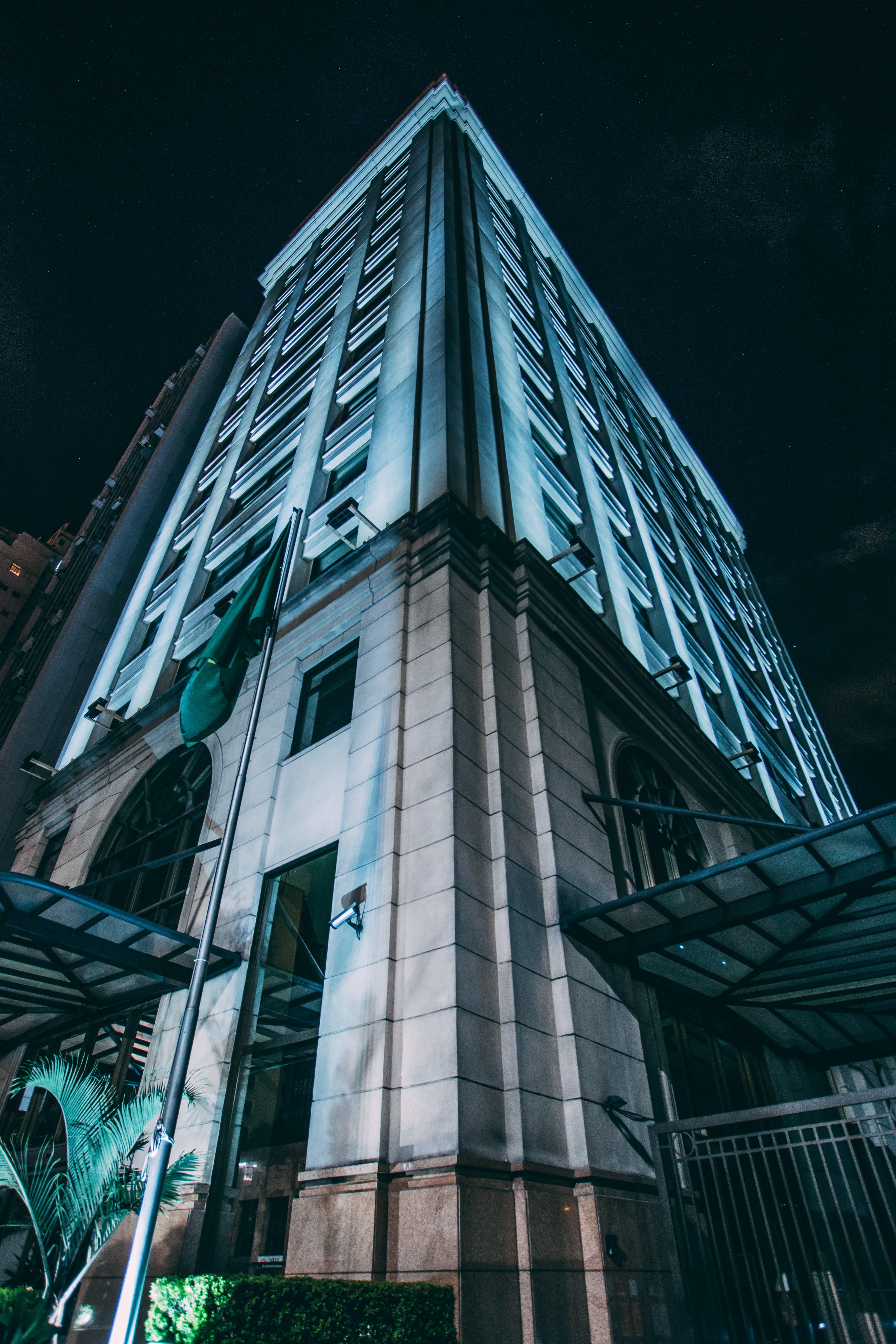 Bottom View of Concrete Building