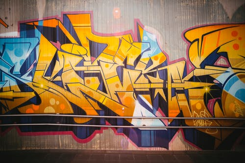 Red Yellow and Blue Graffiti