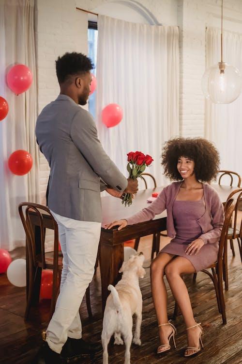 Photos gratuites de à l'intérieur, affection, afro-américain
