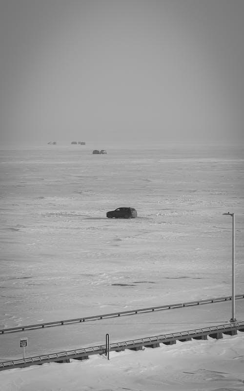 Free stock photo of arctic landscape, b amp w, cold