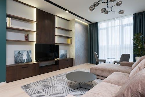 Бесплатное стоковое фото с в помещении, горизонтальный, гостиная
