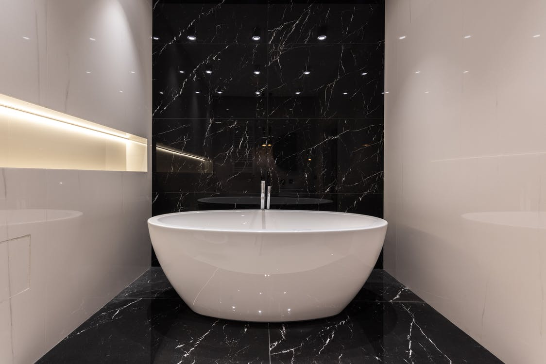 Interior of modern bathroom in apartment