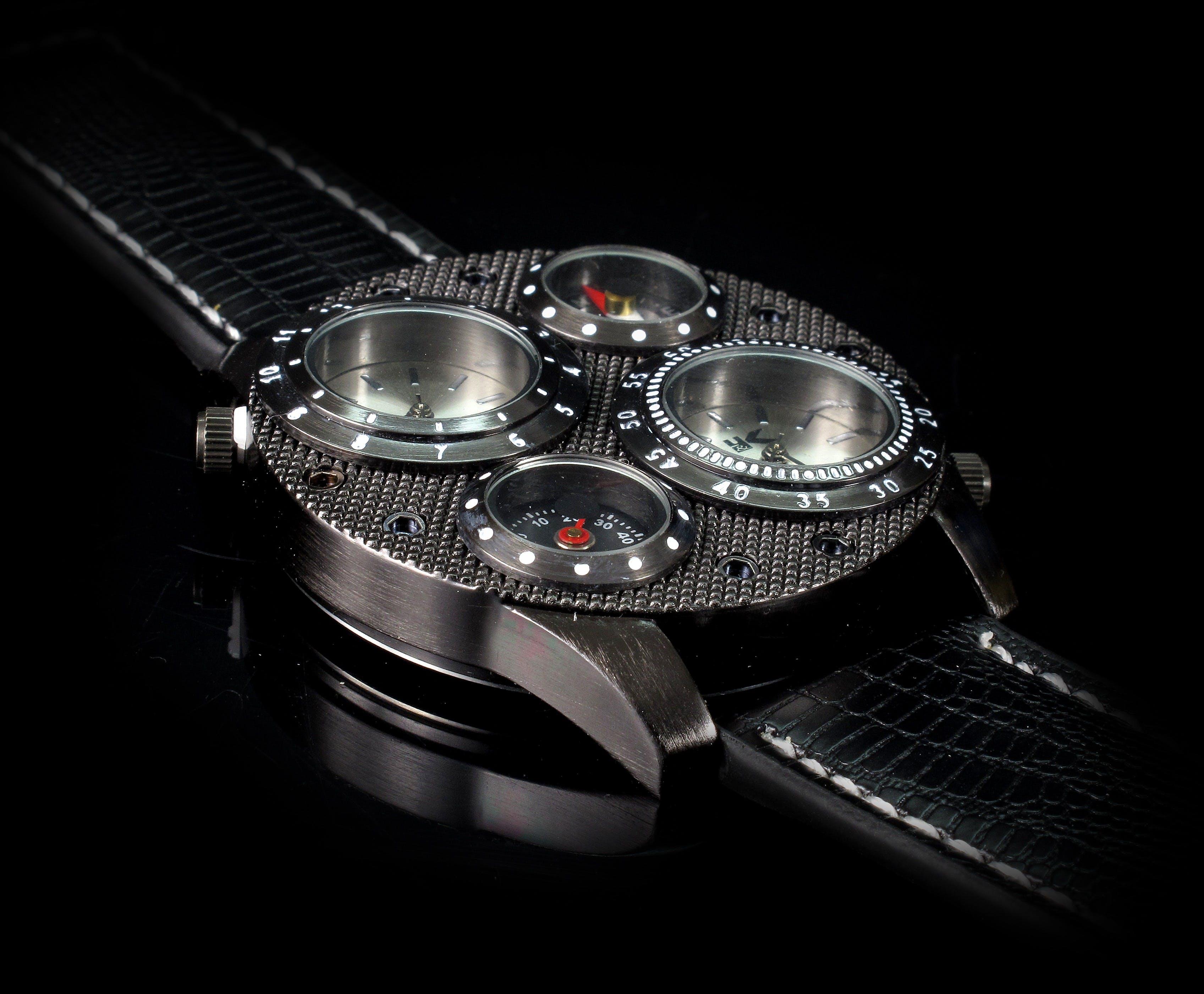 Kostenloses Stock Foto zu accessoire, armbanduhr, nahansicht, schwarz