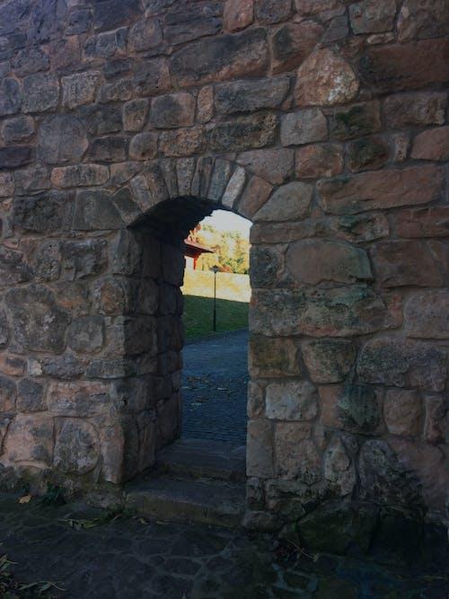 Free stock photo of arch, lantern, wall