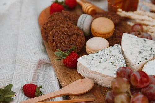 Food on Wooden Tray