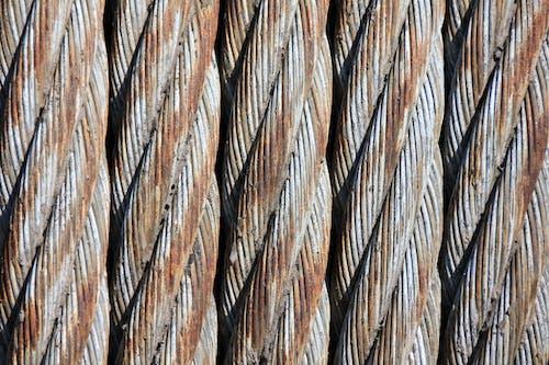 Foto d'estoc gratuïta de cables d'acer, espiral, estampat, fila