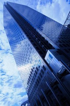 Kostenloses Stock Foto zu himmel, blau, glas, perspektive